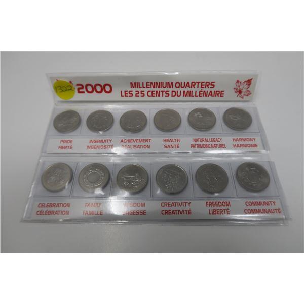 2000 Millenium Quarters Collectors Set 12 Piece