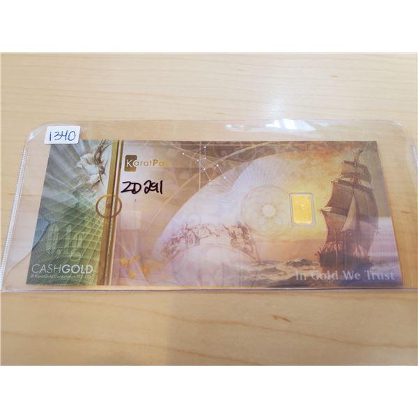 karatpay bill 0.10 gram 999.9 gold