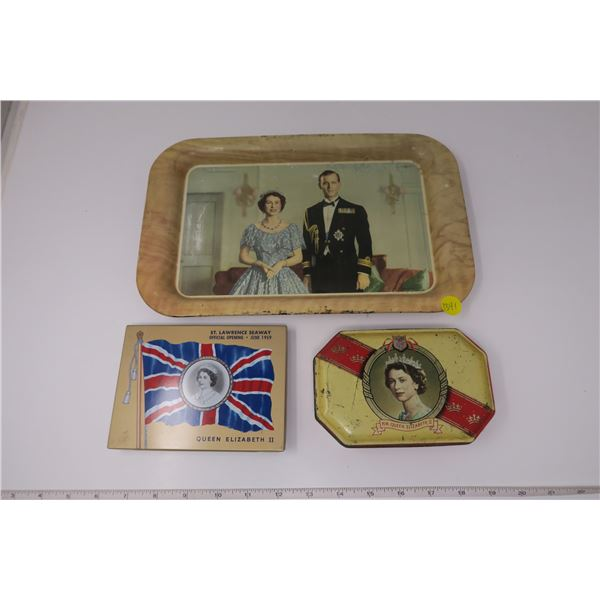 Queen Tin Tray and Boxes