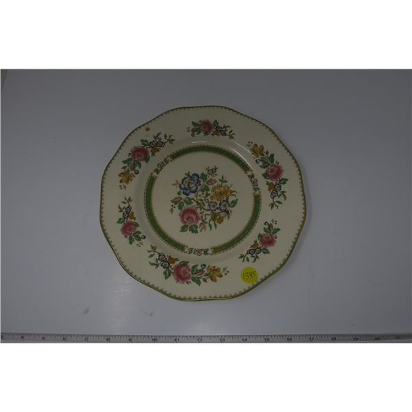 Plate with Flower Design Made in England