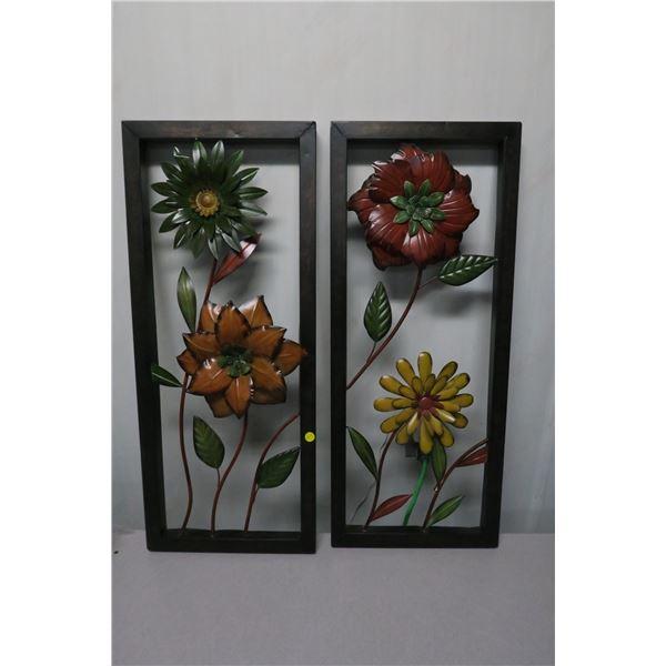 """Hanging Flower Art Décor X2  12.5""""X31"""""""