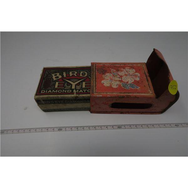 Tin Antique Matchbox Holder