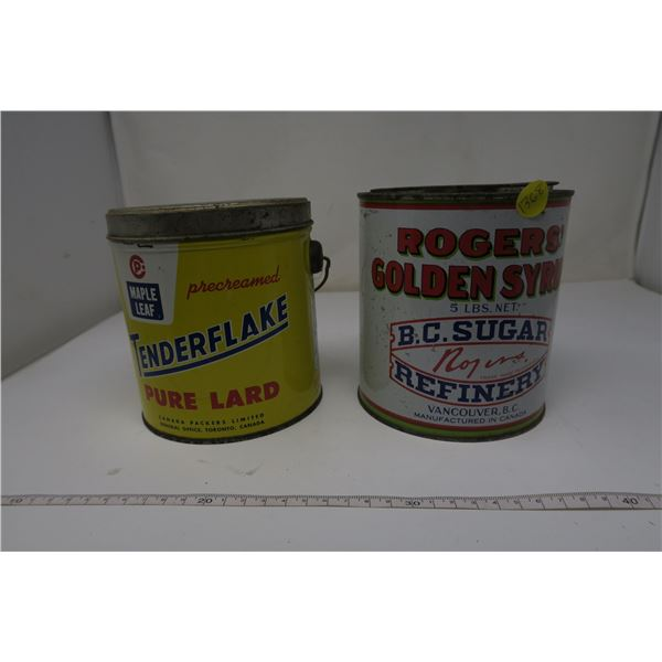 2 X Tins Tenderflake and Rogers Syrup