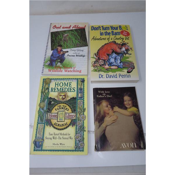 4 Books  Farmer's Almanac, Avon and Others