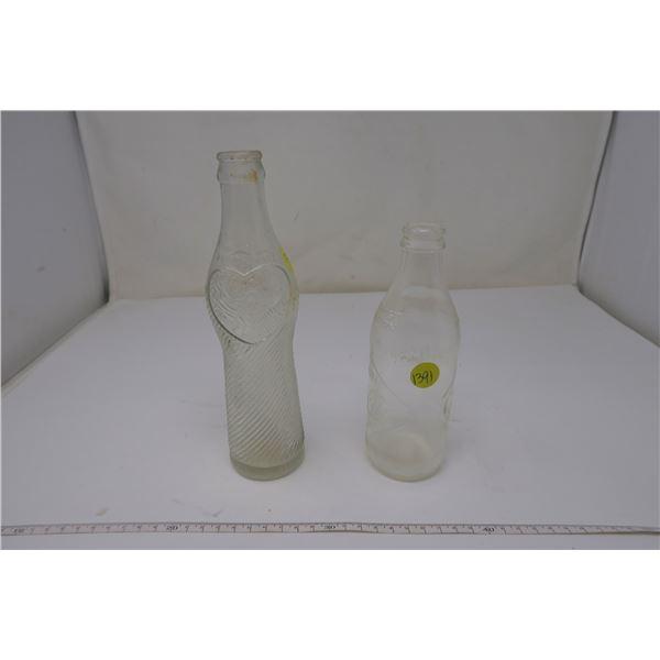 2 X Classic Glass Soda Bottles