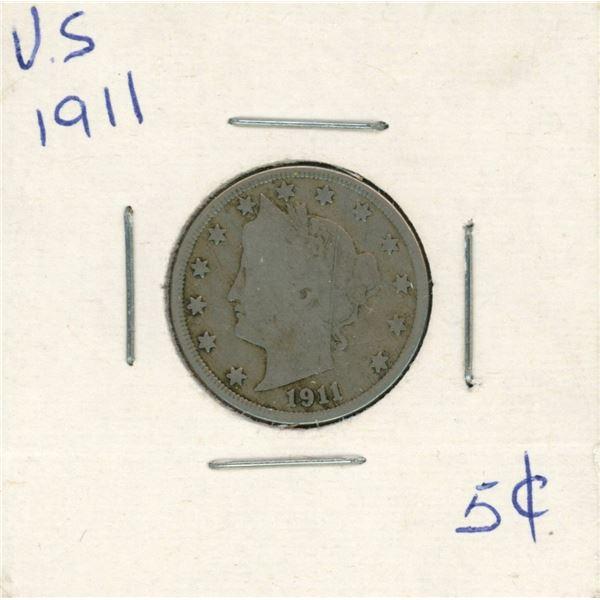 1911 USA 5 Cent Coin