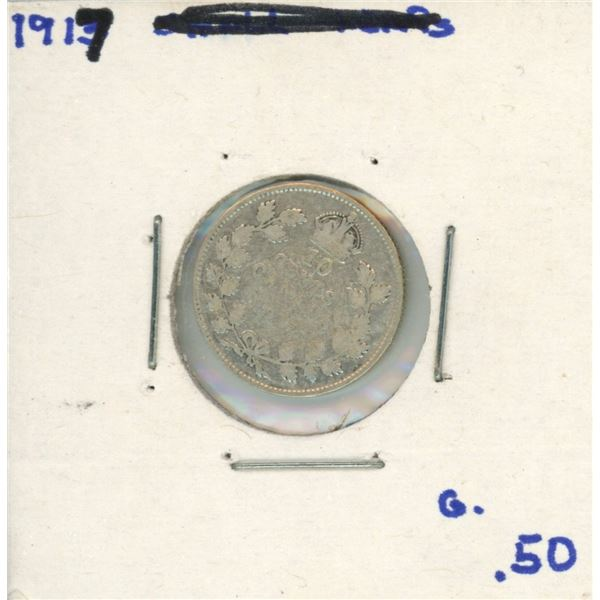 1917 Canadian Silver 10 Cent Coin (G)