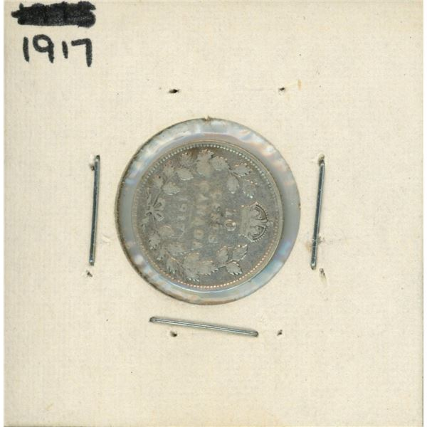 1917 Canadian Silver 10 Cent Coin