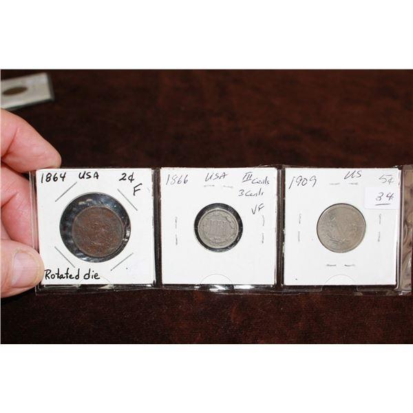 U.S.A. Coins (3)