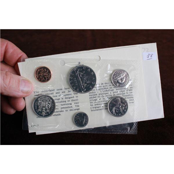 Canada Coin Set - 1972 (6 coins) - BU