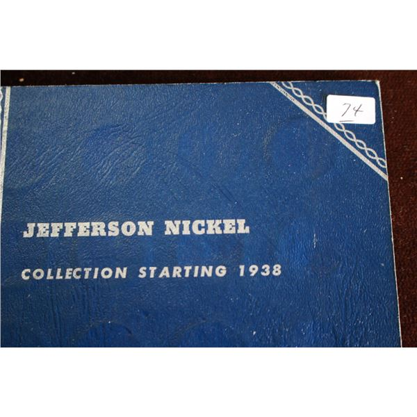 U.S.A. Jefferson Nickel Collection - 1938 to 1959 (49); 5 are Silver
