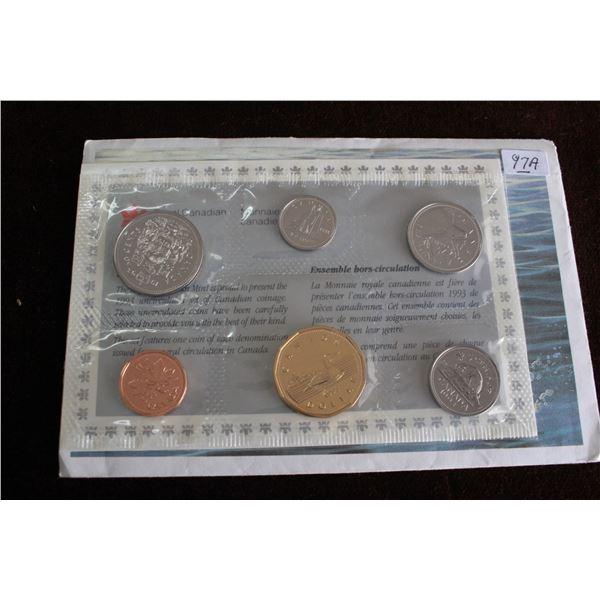 Canada Coin Set - 1993 (6 coins); BU