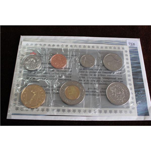 Canada Coin Set - 1998 (7 coins); BU
