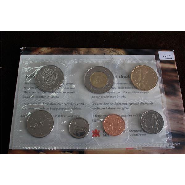 Canada Coin Set - 2001P (7 coins); BU