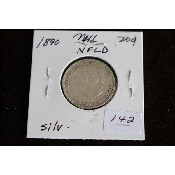 Newfoundland Twenty Cent Coin - 1890, Silver