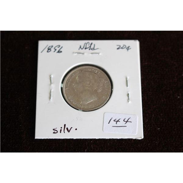 Newfoundland Twenty Cent Coin - 1896, Silver