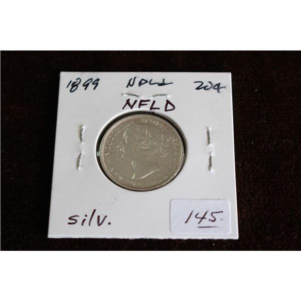 Newfoundland Twenty Cent Coin - 1899, Silver
