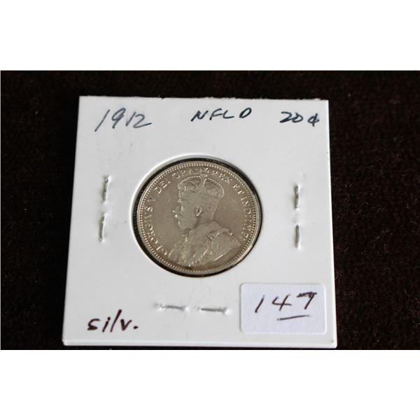 Newfoundland Twenty Cent Coin - 1912, Silver