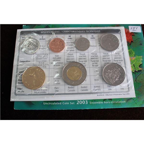 Canada Coin Set - 2003P (7 coins); BU