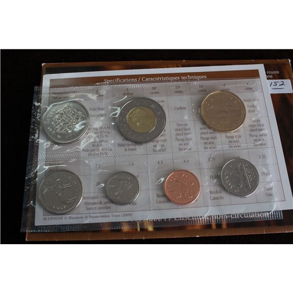 Canada Coin Set - 2004P (7 coins); BU
