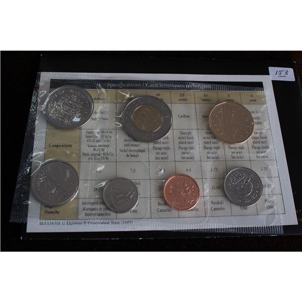 Canada Coin Set - 2005P (7 coins); BU