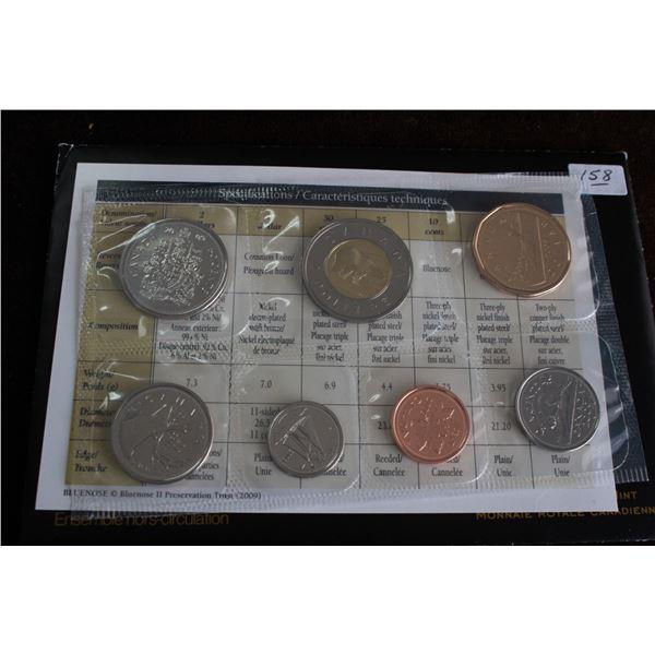 Canada Coin Set - 2009 (7 coins); BU