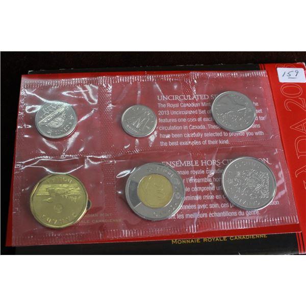 Canada Coin Set - 2013 (6 coins); BU