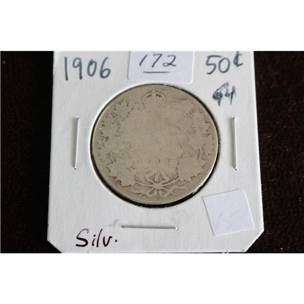 Canada Fifty Cent Coin - 1906, Silver