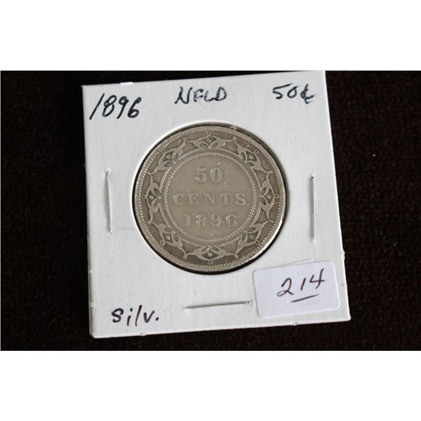 Newfoundland Fifty Cent Coin - 1896, Silver
