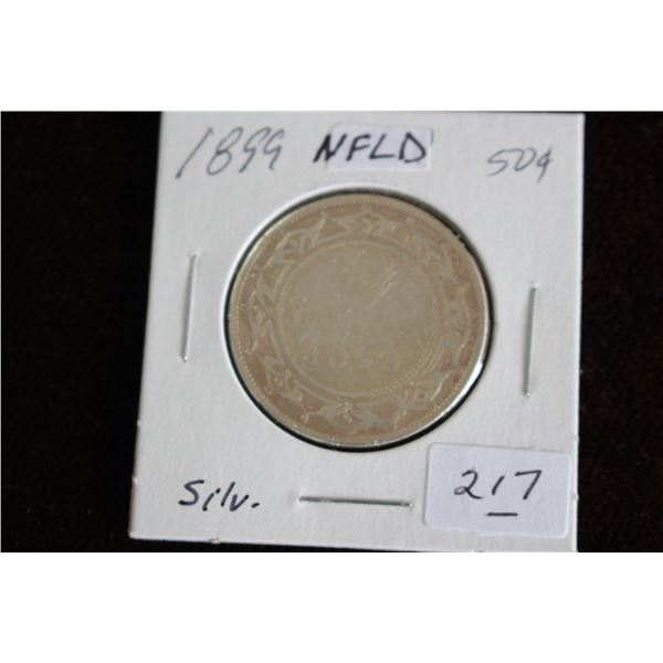 Newfoundland Fifty Cent Coin - 1899, Silver