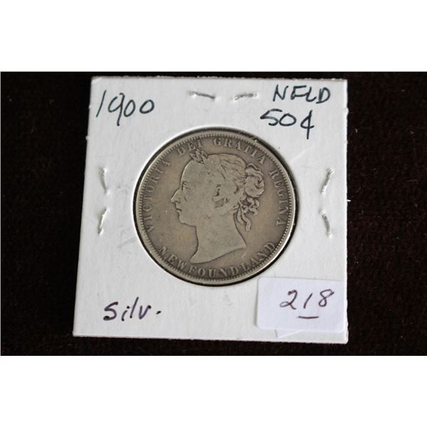 Newfoundland Fifty Cent Coin - 1900, Silver