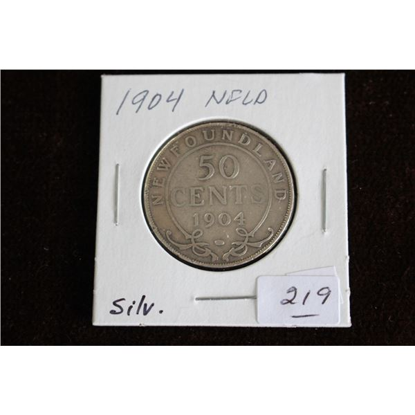 Newfoundland Fifty Cent Coin - 1904, Silver