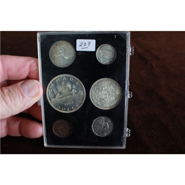 Canada Coin Set - 1962, Silver