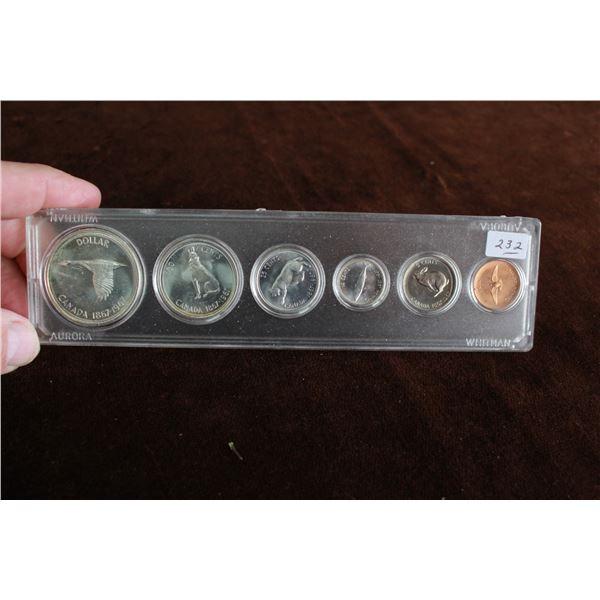 Canada Coin Set - 1967, Silver