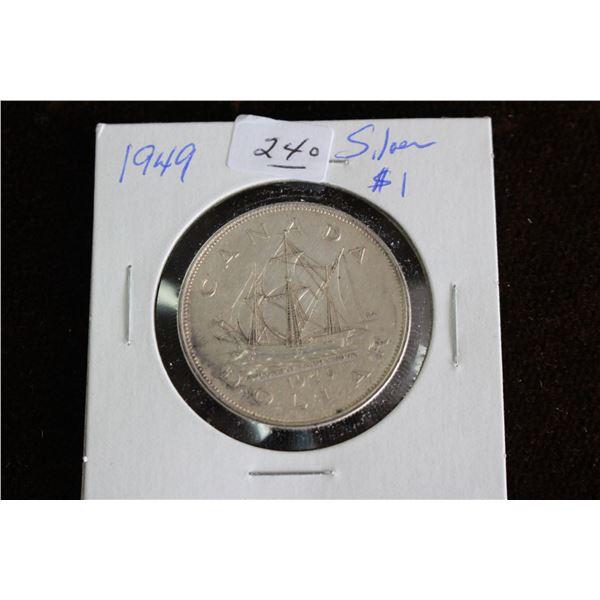 Canada One Dollar Coin - 1949, Silver