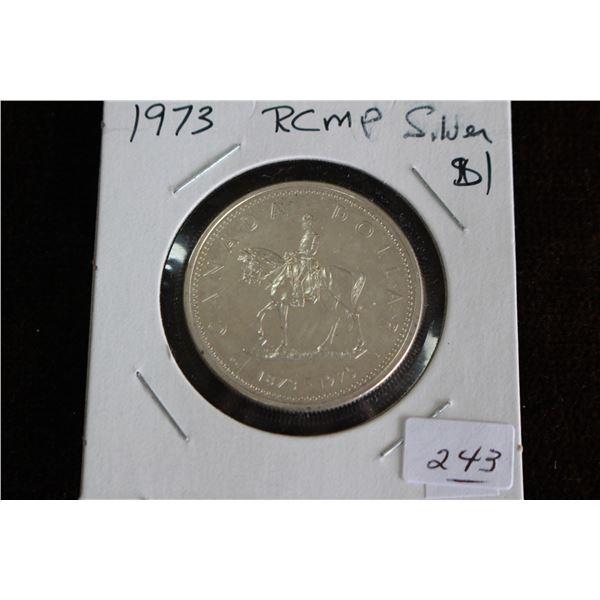 Canada One Dollar Coin - 1973, Silver