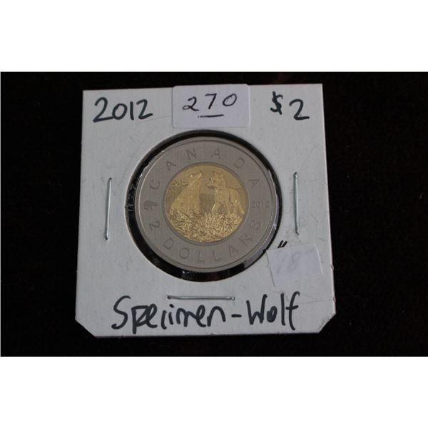 Canada Two Dollar Coin - 2012, Specimen