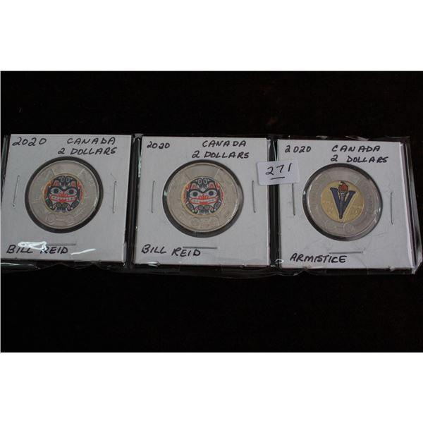 Canada Two Dollar Coins (3)