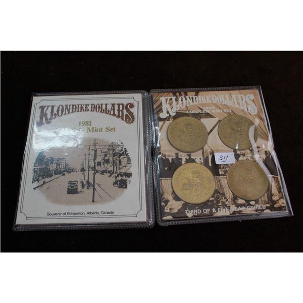 Klondike Dollars - 1980 & 1981 - 2 Complete Mint Sets