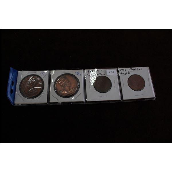 Lot of 4 Medallions -