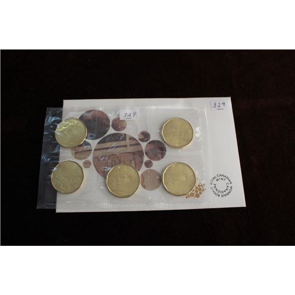 Canada One Dollar Coins (5) - 1916 - 2016