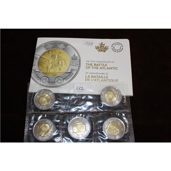Canada Two Dollar Coins (5) - 2016; Mint