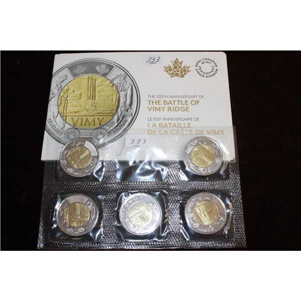 Canada Two Dollar Coins (5) - 2017; Mint