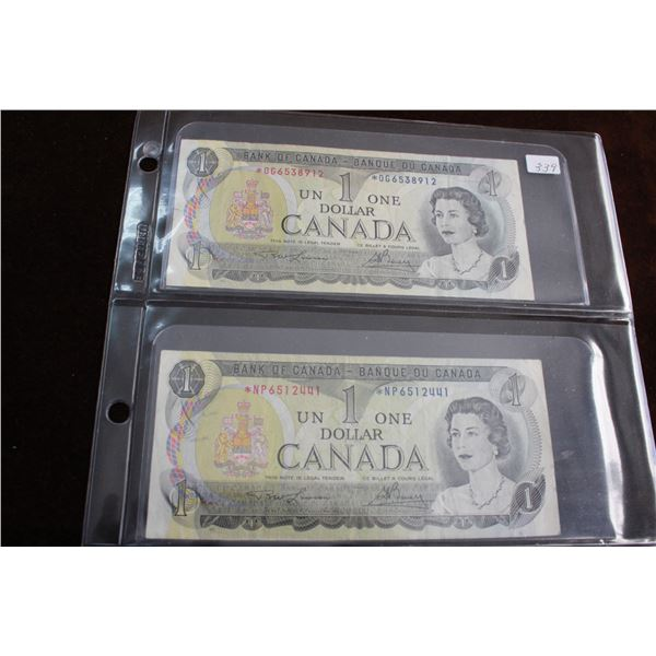 Canada One Dollar Replacement Bills (2)