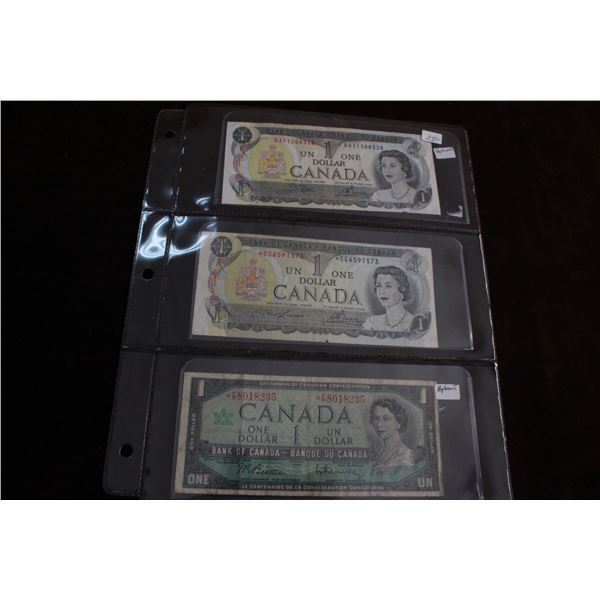 Canada One Dollar Replacement Bills (3)