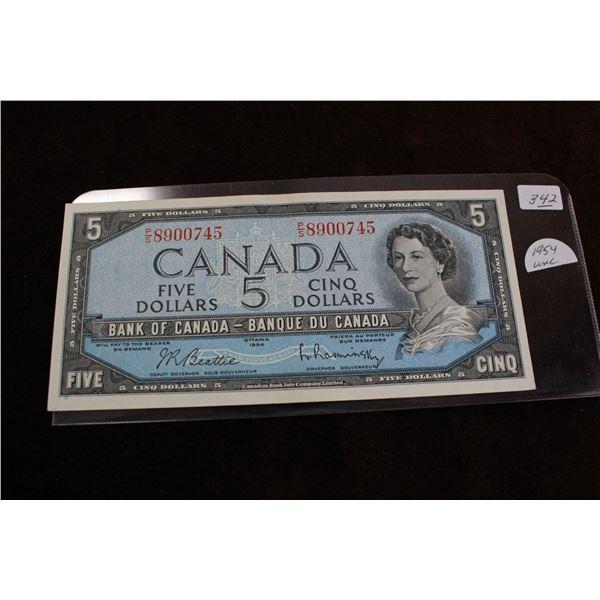 Canada Five Dollar Bill - 1954; Unc.