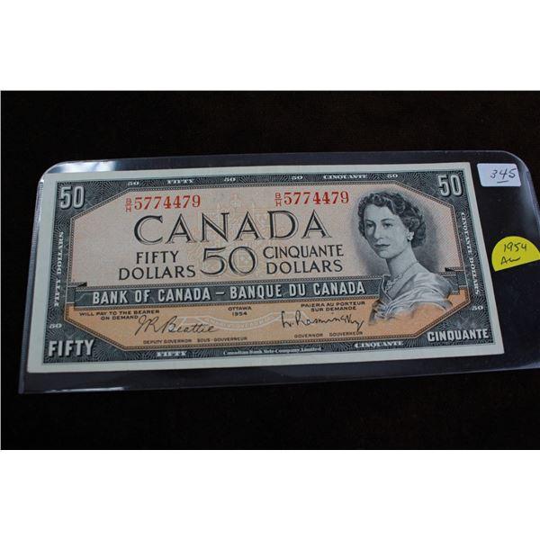 Canada Fifty Dollar Bill - 1954, AU