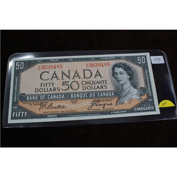 Canada Fifty Dollar Bill - 1954, EF