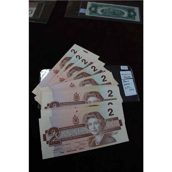 Canada Two Dollar Bills - 1986 (31); Choice Unc.
