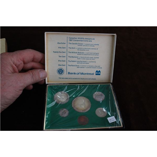 Canada Centennial Coin Set, Bank of Montreal - 1967